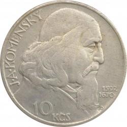 10 Kčs 1957, Ján Amos Komenský, F. David, Československo (1953 - 1960)
