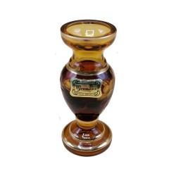 Medovo - zlatá vázička, Egermann, ručne brúsená, Česká republika