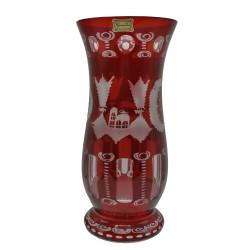 Váza na kvety, Egermann, ručne brúsené sklo, Česká republika