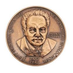 25. výročie SNS a na počesť prvého predsedu SNS PhDr. Jozefa Hlinku, CSc., 1995, M. Poldaufová, AE medaila