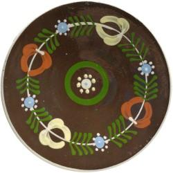 Tanier s motívom kvetín a vetvičiek, Pozdišovská keramika, Československo